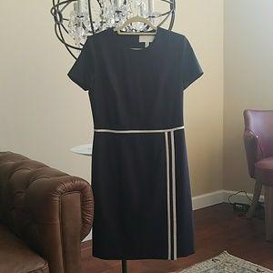 Hugo Boss navy short sleeve work dress